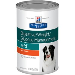 HILLS PRESCRIPTION DIET CANINE W/D LATA 370 GRS
