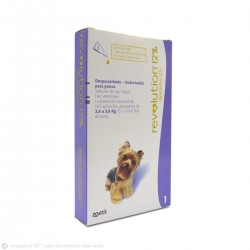 Antiparasitario REVOLUTION 12% para Perros de 2,6 a 5,0 kg