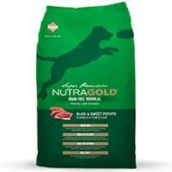 NutraGold Grain Free Duck and Sweet Potato (Pato) 13.6kg.