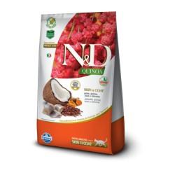 N&D SKIN & COAT PESCADO  Y QUINOA GATO ADULTO 7,5KG