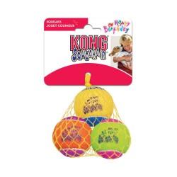 KONG  BIRTHDAY BALL AIR CON SONIDO (3 UNIDADES)