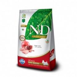 N&D Adult Mini Breeds Pollo y Granada 10,1KG